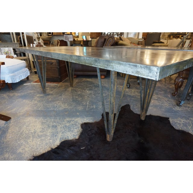 Large Zinc Dining Table - Image 3 of 4