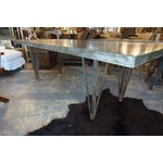 Image of Large Zinc Dining Table