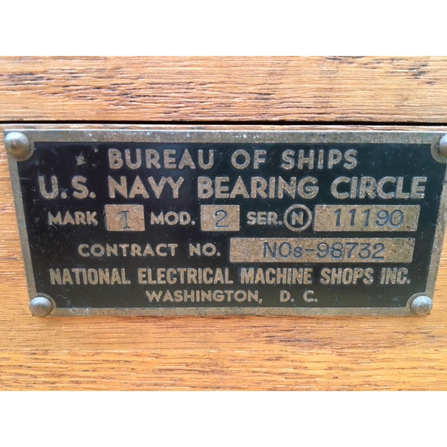 Image of Bureau of Ships US Navy Bearing Circle W/Maps 1942