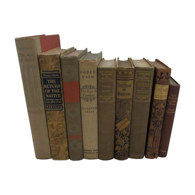 Image of Tan & Brown Literature Book Collection - Set of 9