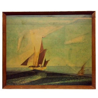 Vintage Western Sea Lithograph by Lyonel Feininger