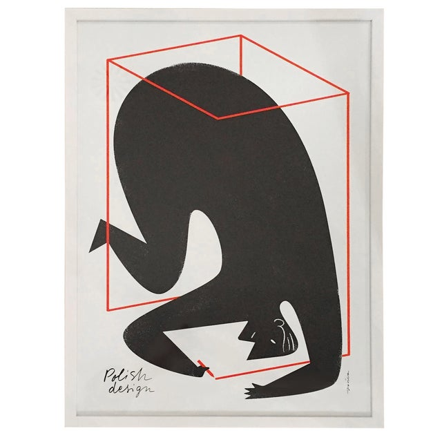 "Polish Design Print - ""Man in a Box"" - Image 1 of 7"