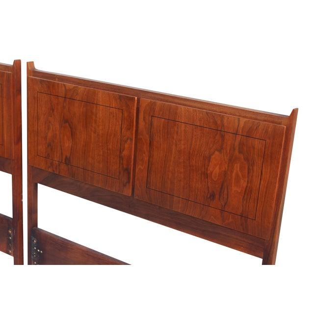 Twin Mid-Century Walnut Headboards - A Pair - Image 3 of 10