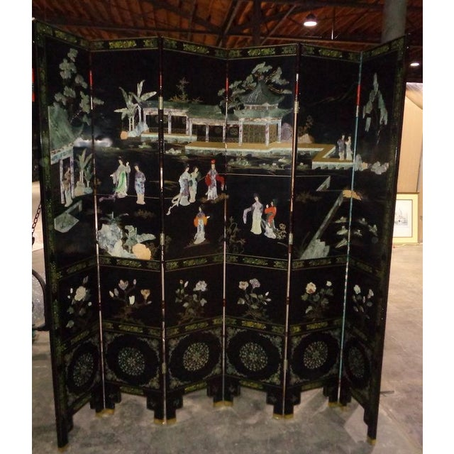 Maitland Smith Asian 6 Panel Screen - Image 4 of 5