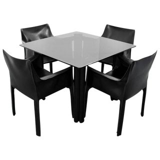 Mario Bellini Leather Chairs for Cassina & Acerbis International Table - Dining Set