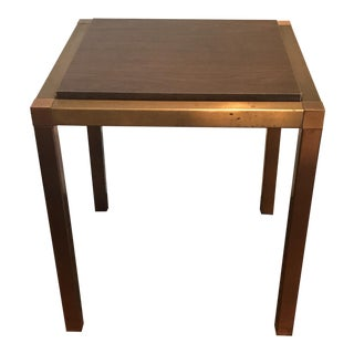 Wood & Brass Finish Side Table