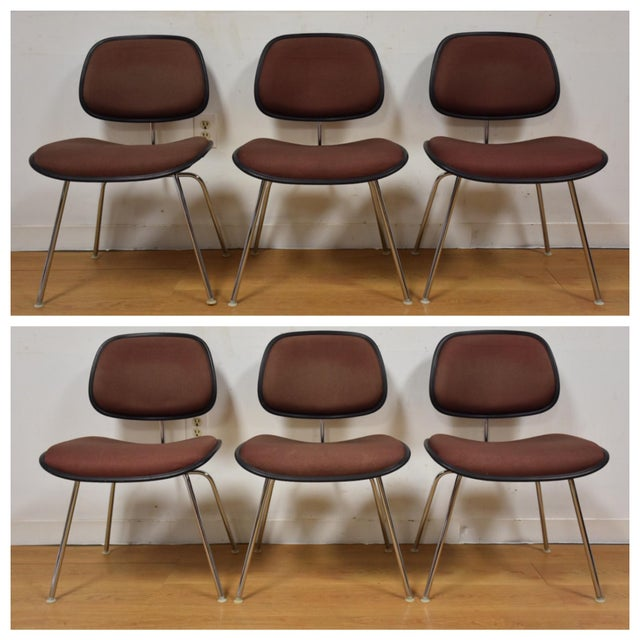 dcm chairs by eames for herman miller set of 6 chairish
