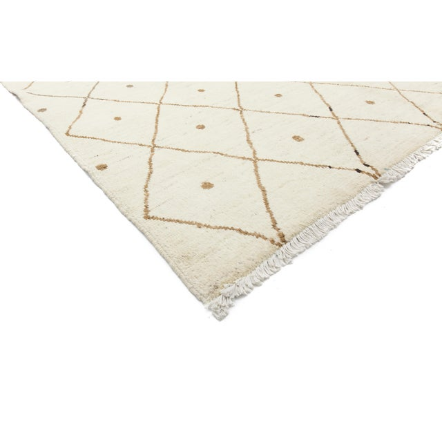 """Image of Moroccan Hand Knotted Area Rug- 7'10"""" x 9'9"""""""