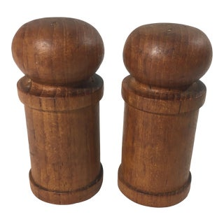 Mid-Century Modern Teak Salt and Pepper Shakers