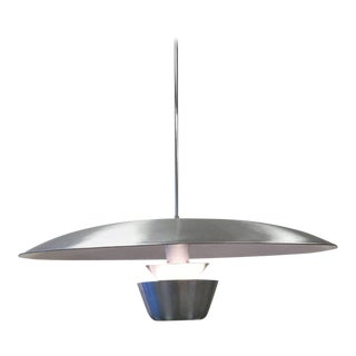 Brushed Aluminium Large Pendant Hanging Lamp