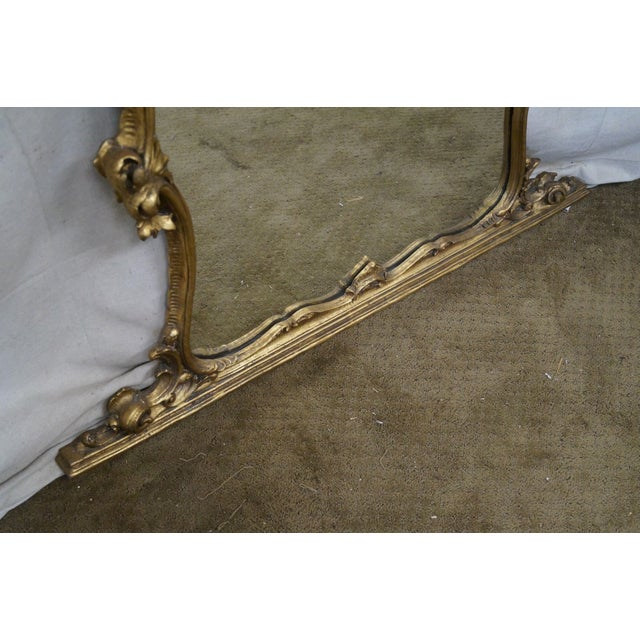 French Louis XV Carved Gilt Console Wall Mirror - Image 10 of 10