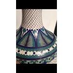 Image of Vintage Fish Scale Cloisonné Lamp