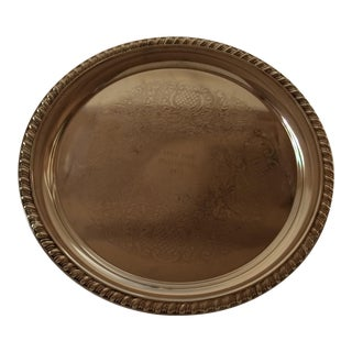 1975 Engraved April Fools Invitational Silver Plate Tray