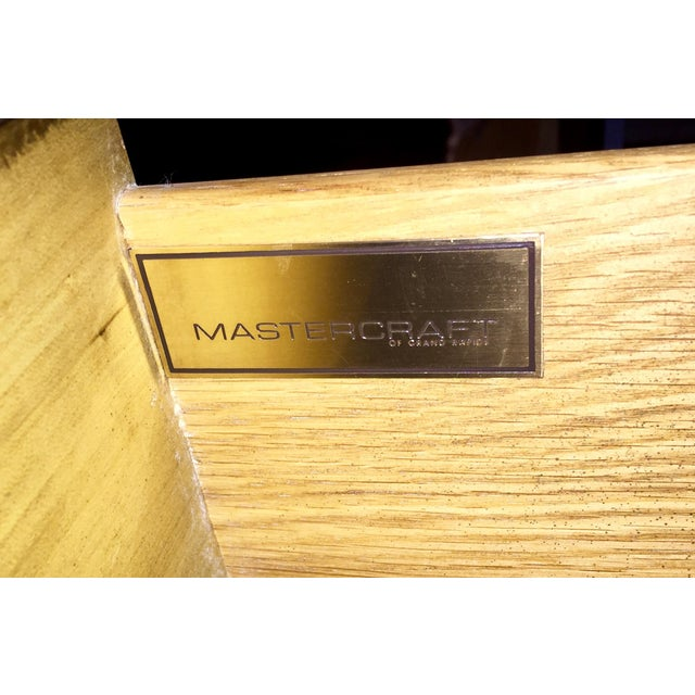 Image of Mastercraft Brass & Burlwood Server