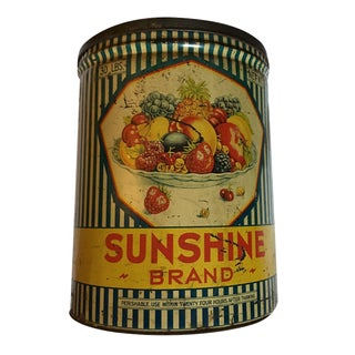 Vintage Sunshine Brand Fruit Tin