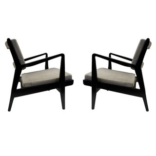 1950 Pair of Jens Risom Lounge Chairs