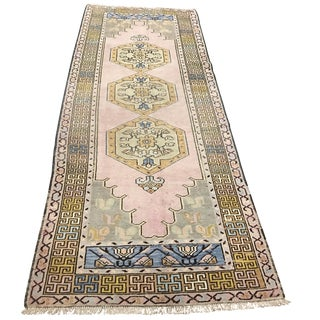 Oushak Turkish Rug - 3′4″ × 9′1″