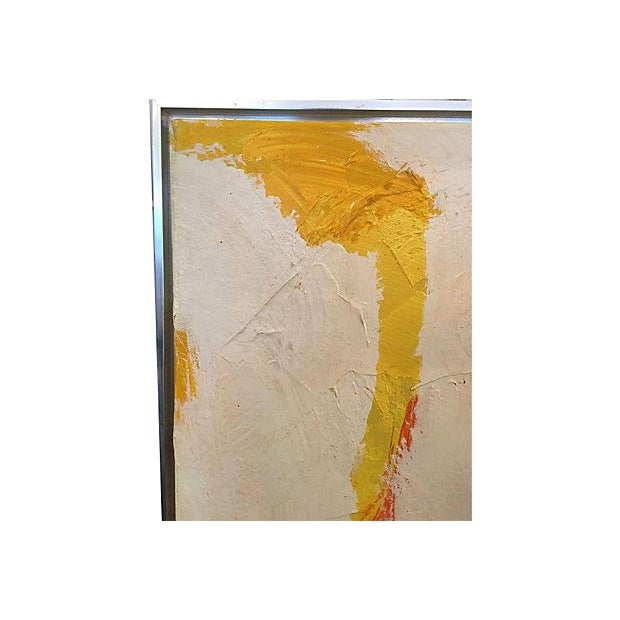 Lee Reynolds Mid-Century Abstract Oil Painting - Image 2 of 5