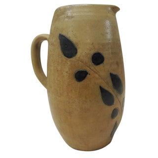 Vintage Glazed Stoneware Water Pitcher