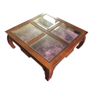 Chinoiserie Glass Paneled Coffee Table