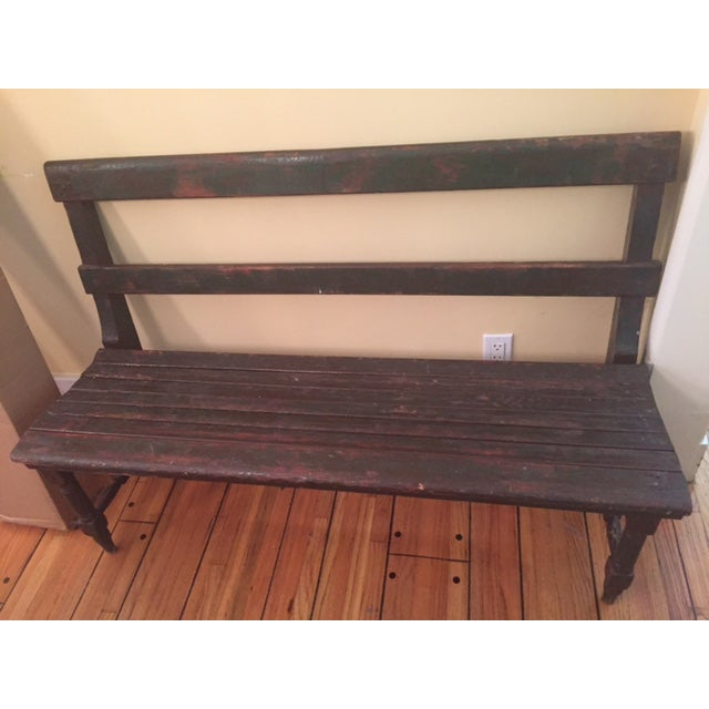 Antique Wooden Bench - Image 2 of 3