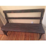 Image of Antique Wooden Bench