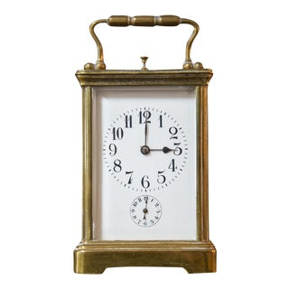 Couaillet Freres French Brass Carriage Clock