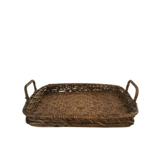 Brown Wicker Tray
