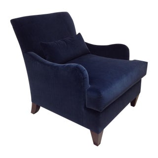 Baker Blue Velvet Abbey Chair