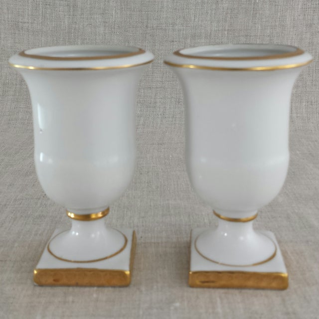 Image of Vintage Porcelain Toothpick Holders - A Pair