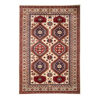 """New Traditional Hand Knotted Area Rug - 4'10"""" x 7'"""