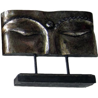 Buddha Face Panel on Stand