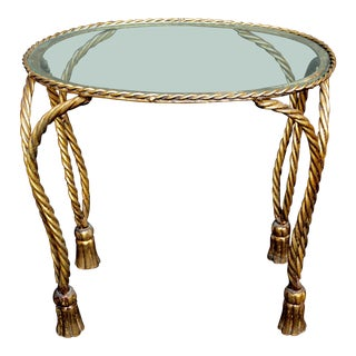 Vintage Italian Gilt-Metal Table