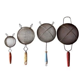 Vintage Decorative Kitchen Strainers - Set of 4