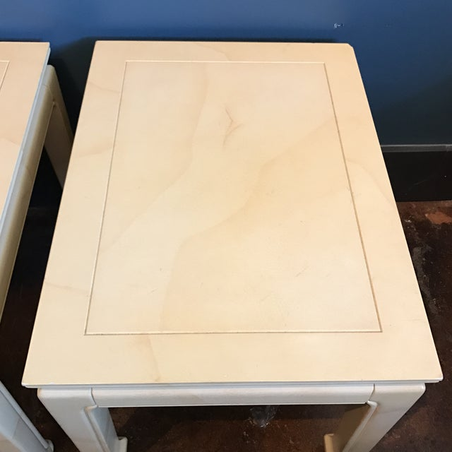 Henredon Goatskin Lacquered End Tables - a Pair - Image 7 of 9