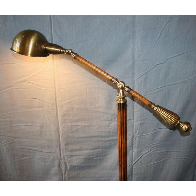 Wood & Bronze Floor Lamp - Image 5 of 6