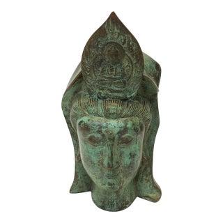Balinese Verdigris Bronze Head
