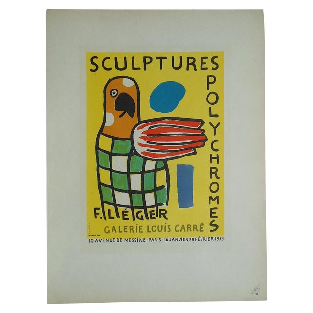 1959 Leger Mid 20th C Modern Abstract Lithograph - Image 1 of 3