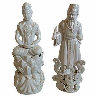 Blanc De Chine Figures - A Pair