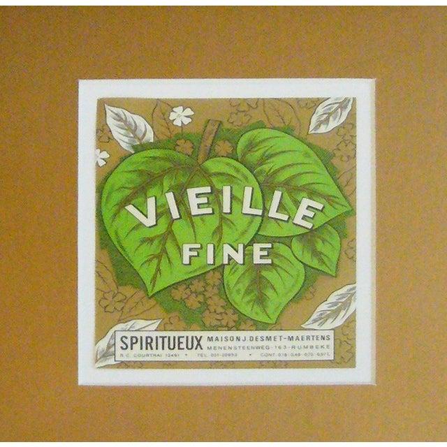 Framed French Vintage Wine Label - Image 2 of 3