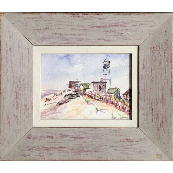 """Edith Bry, """"Fire Island 2,"""" Watercolor Painting - Image 1 of 2"""