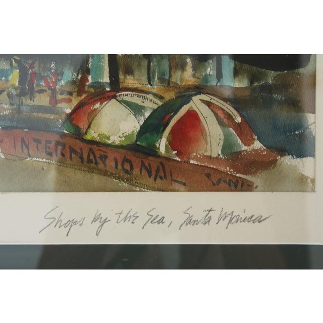 Santa Monica Shoreline Original Watercolor - Image 3 of 6