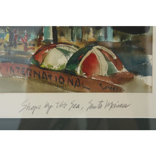 Image of Santa Monica Shoreline Original Watercolor