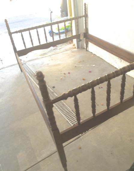 image of clad home full size vintage wood spindle jenny lind bed - Jenny Lind Bed