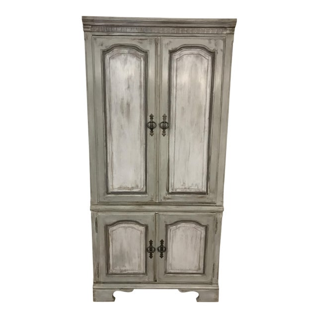 Distressed Shabby Chic Armoire - Image 1 of 11