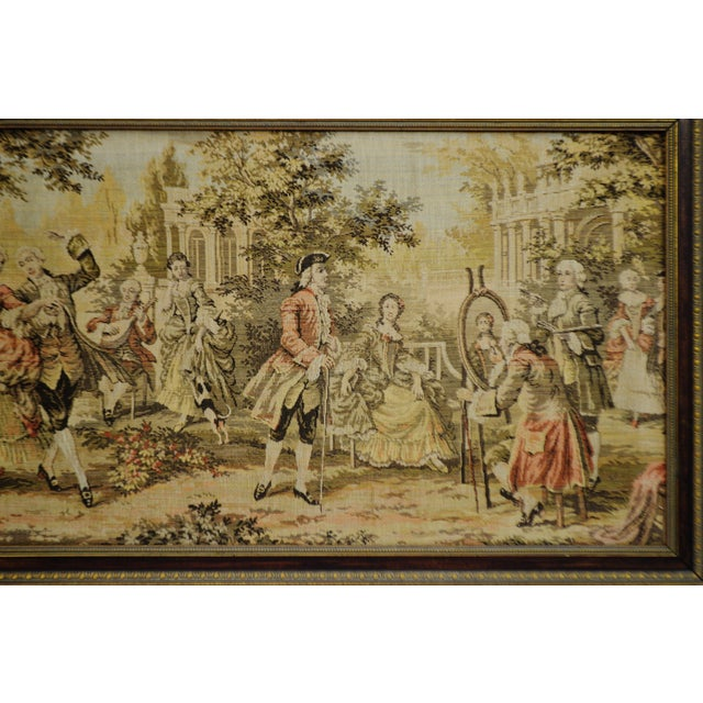 Early Framed Tapestry Wall Art - Image 4 of 11