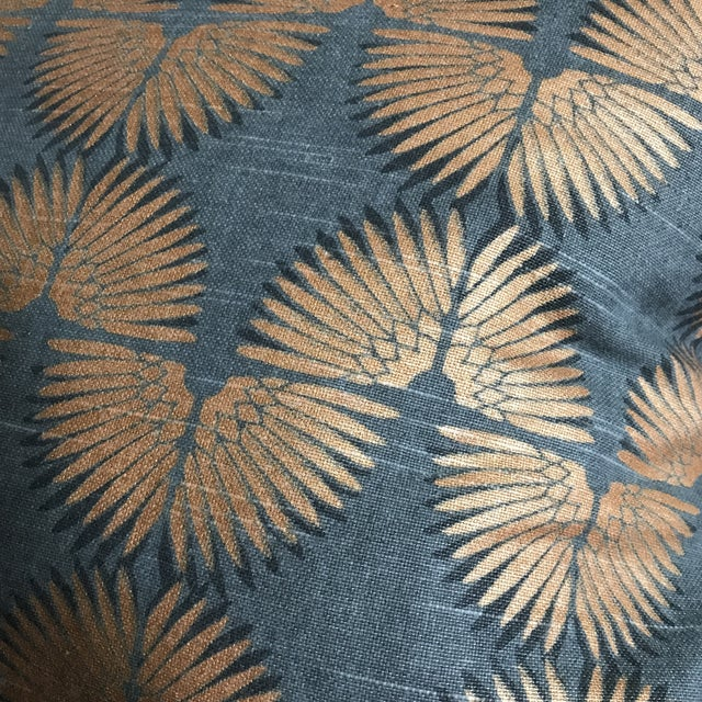 Gray & Copper Art Deco Pillow - Image 4 of 5