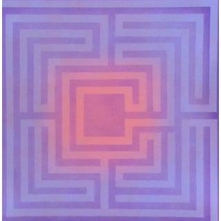 1970's Op-Art Silkscreen by Judith Azur