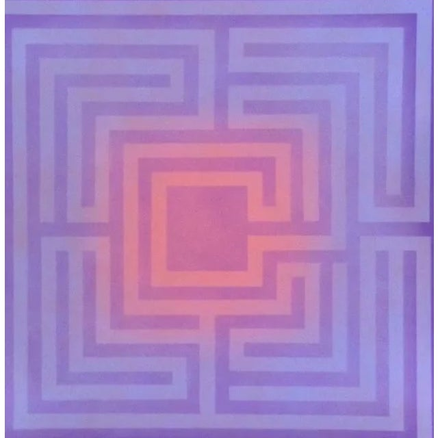 1970's Op-Art Silkscreen by Judith Azur - Image 1 of 3