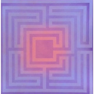 1970's Op-Art Silkscreen by Judith Azur